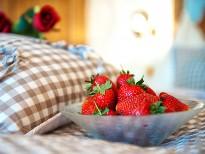 Erdbeeren im Wellnessbereich