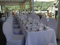Die Hochzeitsfeier direkt an der Donau