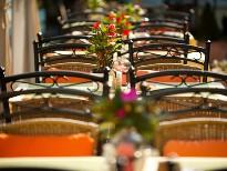 Terrasse im Restaurant an der Donau