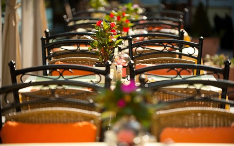 Terasse im Hotel Residenz Wachau