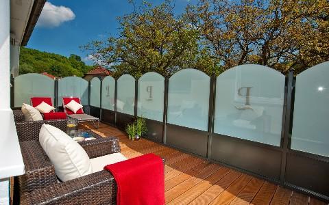 Sonnenterasse im Hotel Residenz Wachau