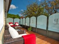 Sonniger Balkon im Hotel Residenz Wachau